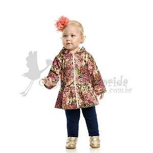 Conjunto Longo Bebê-Infantil Menina Floral Kaiani