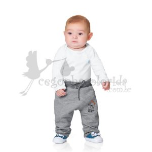 Calça Bebê Menino Bordada Tiger Kiko Baby