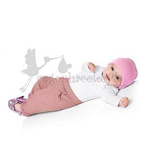 Calça Legging Bebê Menina em Molecotton Felpado Kiko Baby