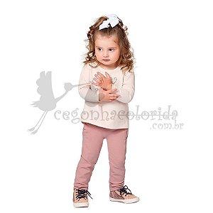 Calça Legging Infantil Menina em Molecotton Kiko & Kika