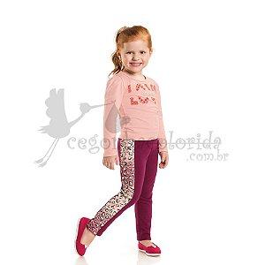 Calça Montaria Infantil Estampada Kaiani