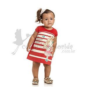 Vestido Manga Curta Bebê-Infantil Menina Sweet Girl