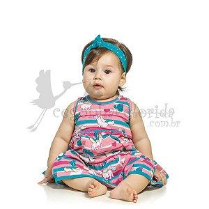Vestido Regata Bebê Menina Unicórnio Elian