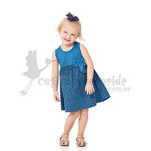 Vestido Regata Infantil Animal Print Kiko & KIka