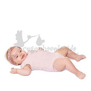 Body Manga Curta Bebê Menina Delicado Kiko Baby