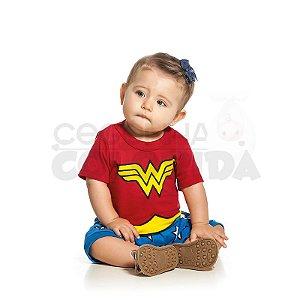 Macacão Bebê Menina Mulher Maravilha DC Comics Originals
