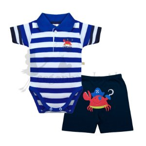 Conjunto Bebê Menino Captain Adorable Best Club