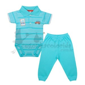 Conjunto Manga Curta Bebê Menino Little Explorer Best Club