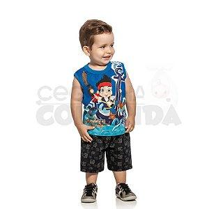 Conjunto Infantil Menino Capitão Jake e os Piratas