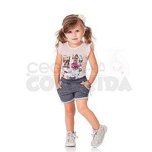 Conjunto Curto Infantil Menina Paris Kiko & Kika