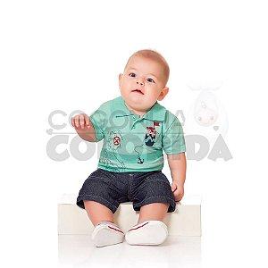 Conjunto Curto Bebê Menino Urso Pirata Kiko Baby