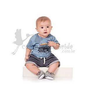 Conjunto Curto Bebê Menino Surfista Kiko Baby