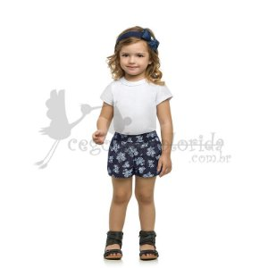 Short Infantil Menina Estampado