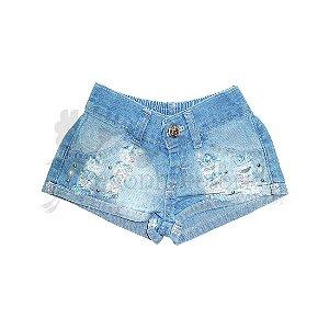Short Jeans Infantil Menina Barra Dobrada