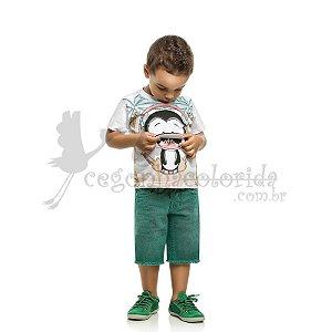 Camiseta Manga Curta Infantil Menino Pinguim - Interativa