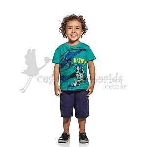 Camiseta Manga Curta Infantil Menino Batman