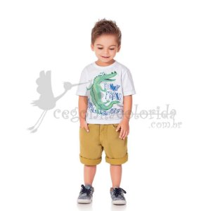 Camiseta Manga Curta Infantil Menino Funny Kiko & Kika