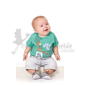 Camiseta Manga Curta Bebê Menino Zoo Friends Kiko Baby