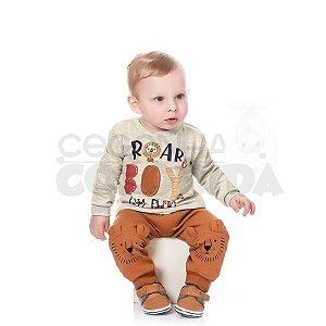 Conjunto Longo Bebê Menino Roar Kiko Baby