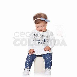Conjunto Longo Bebê Menina Ovelhinha Kiko Baby