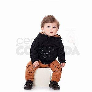 Conjunto Longo Bebê Menino em Moletom com Capuz Kiko Baby