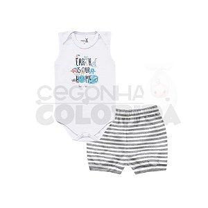 Conjunto Bebê Body Regata com Short Kiko Baby