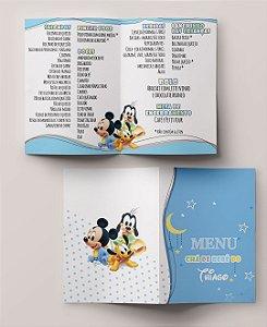 Menu Cardápio Infantil Mickey