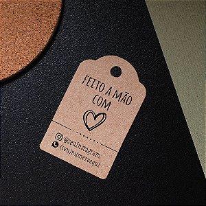 Tag Kraft Tradicional Feito com amor