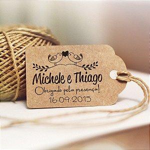 Tag Kraft para Casamento