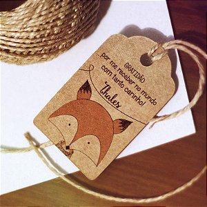 Tag Kraft Maternidade Raposinha