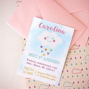 Convite Chuva de Amor com Envelope