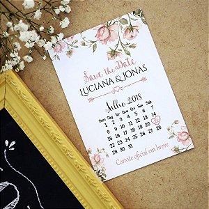 Save the Date Pré Convite Magnético Floral