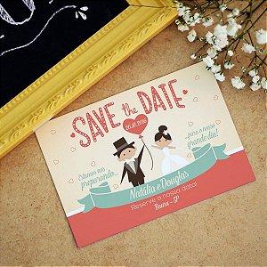 Save the Date Pré Convite Magnético Noivinhos