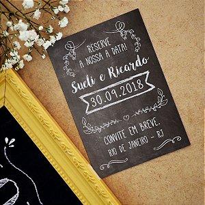 Save the Date Pré Convite Magnético Chalkboard