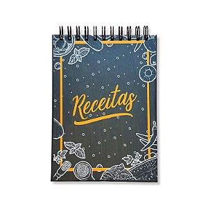 Caderno de Receitas - Marrom