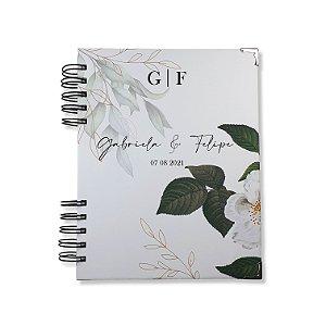 Diário da Noiva - Floral Personalizado