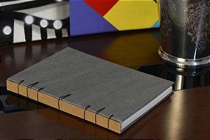 Caderno sem pauta - Belga Cinza