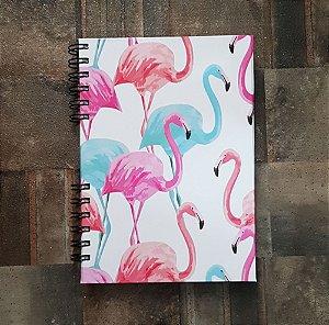 Caderno Pautado Espiral  A5 - FLAMINGO