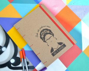 Sketchbook Kraft Eco Pólen - Frida
