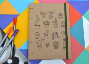 Sketchbook Kraft Eco Pólen - Cacto