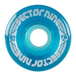 Roda Sector 9 Nineballs 64mm - 78A - Azul
