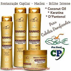 Kit Completo Banho de Verniz - Hidratação Capilar - Belkit