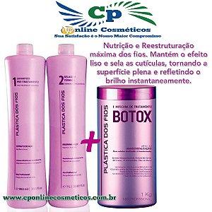 Combo Progressiva Plástica dos Fios + Botox 1kg
