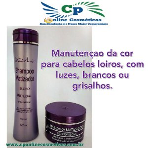 Kit Matizador Blond Shampoo 300 ml e Máscara 250 - Naxos