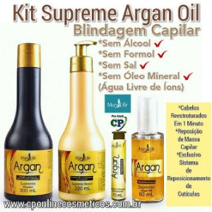 Kit Capilar Supreme Argan - Mary Life