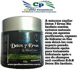 Máscara No Low Poo Detox 7 Ervas 400g - Bio Instinto