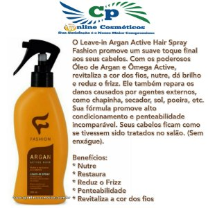 Finalizador Spray Argan Active Hair 200ml - Fashion