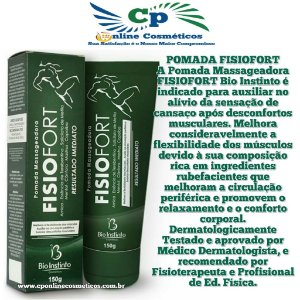 Pomada Massageadora FisioFort 150 g - Bio Instinto