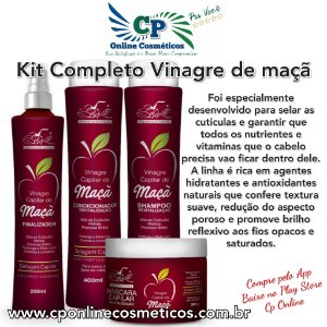 Kit Completo Vinagre de maçã - Tratamento Capilar - Belkit