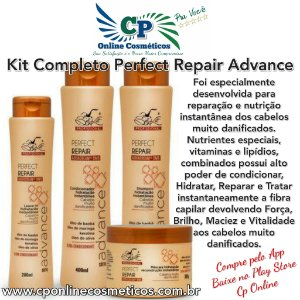 Kit Completo Perfect Repair Advance - Tratamento Capilar - Belkit